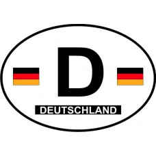 Germany Country Origin Decal - Non-Reflective