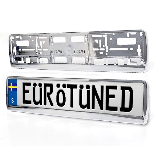 Europlate Frame Chrome