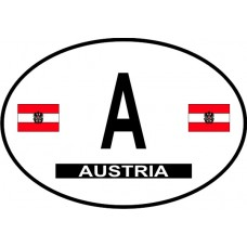 Austria Country Origin Decal - Non-Reflective
