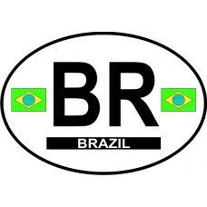 Brazil Country Origin Decal - Non-Reflective
