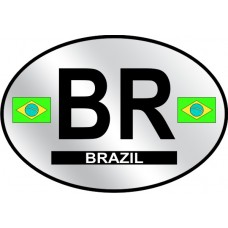 Brazil Country Origin Decal - Reflective