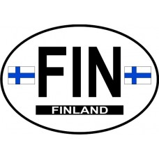 Finland Country Origin Decal - Non-Reflective