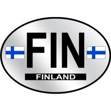 Finland Country Origin Decal - Reflective