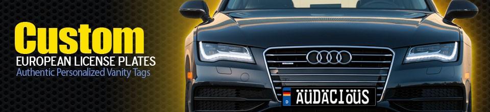 Custom Europlates Audi