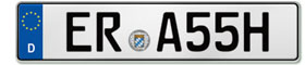 German seasonal license plate